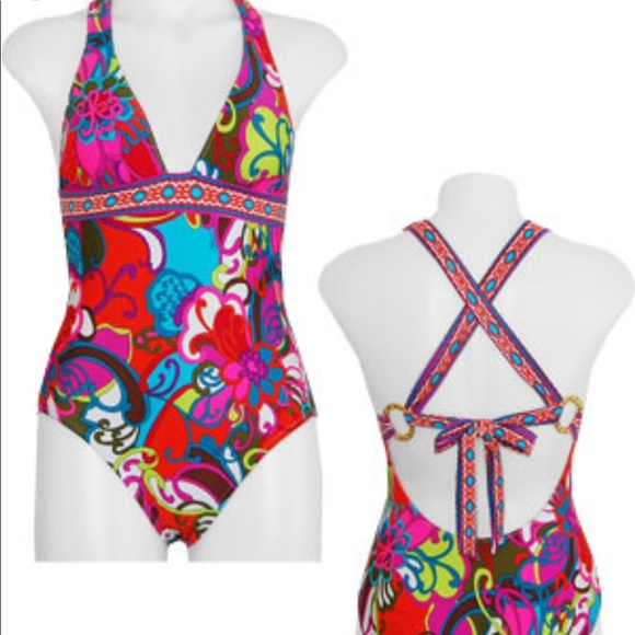 c6bc9acc89 Trina Turk Swim | Fiji Flower Suit 6 | Poshmark